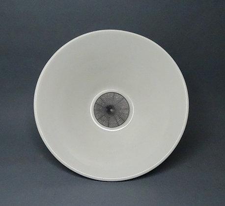 bol rond blanc en porcelaine décor toile d'araignée noir et blanc