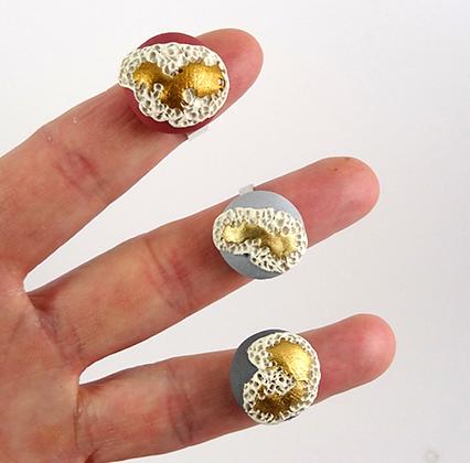 Bague en céramique ronde doré bijou de créateur femme bagues Lyon