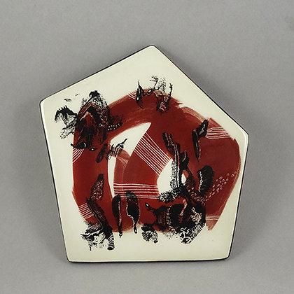 carreau décoratif en céramique dessin motif abstrait déco artiste