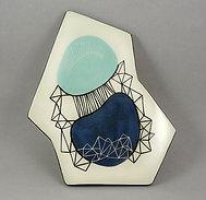 Dessous de plat en céramique peint à la main design bleu