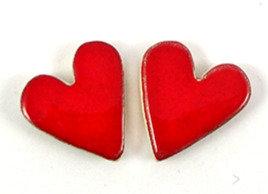 Fèves en céramique pour galette des rois forme coeur rouge
