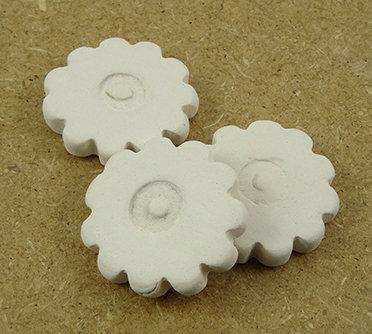 fleurs en terre cuite blanche palets diffuseurs d'huiles essentielles