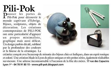 bijoux createur ceramique tendance marie-claire by pili-pok Lyon