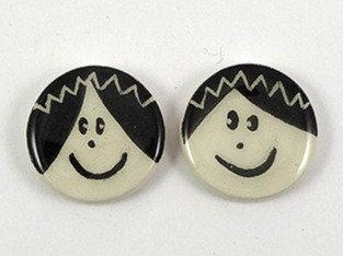 fèves originales céramique motif roi reine noir et blanc fèves artisanales