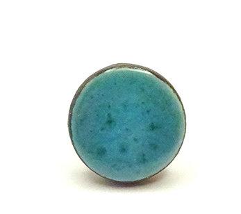 bague ronde turquoise et anneau argent pour femme