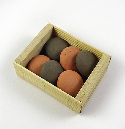 boite de galets terre cuite naturelle diffuseurs huiles essentielles