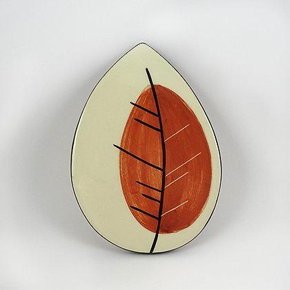 Sous-plat forme feuille carreau déco graphique en céramique design
