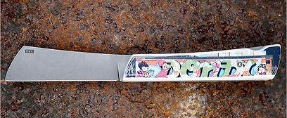 couteau collection street art Dondi cotes ceramique pili-pok createur