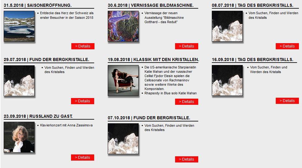 Veranstaltungen & Events 2018