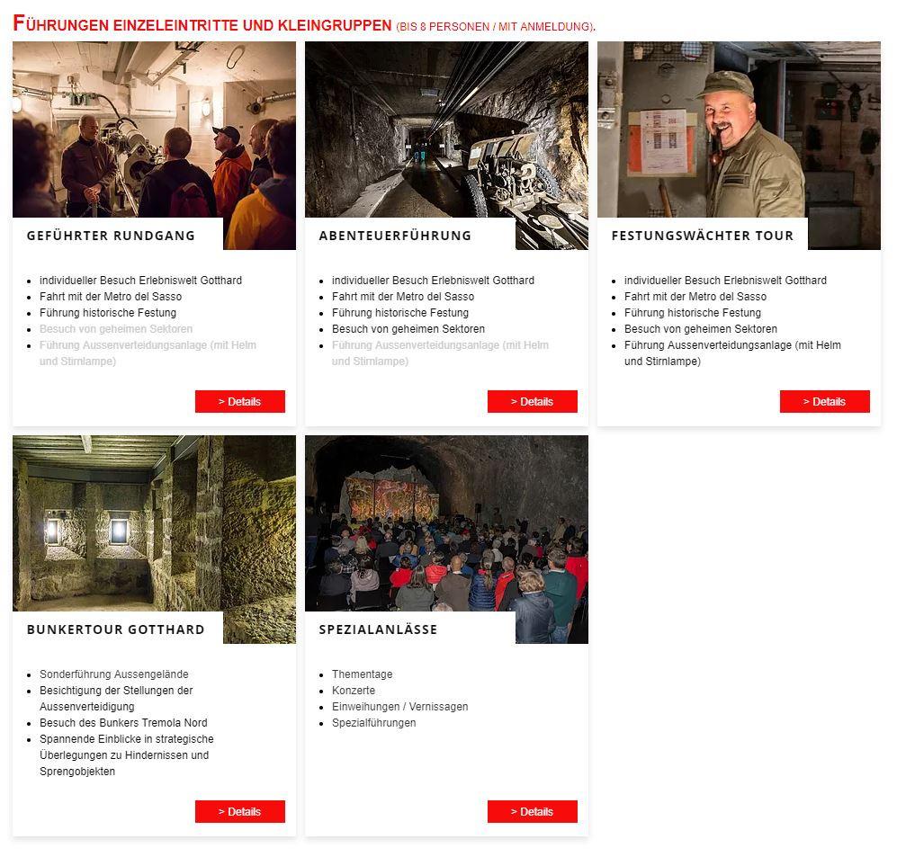 Führungen Sasso San Gottardo - Besuchen Sie das einzigartige Museum auf dem Gotthardpass