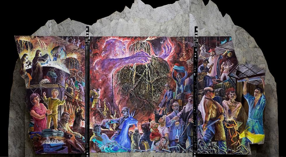 Die Bildmaschine Reduit von Tullio Zanovello erzählt mit sich bewegenden Gemälden begleitet von Musik Geschichte und Geschichten aus dem Gotthardgebiet. Das 1,5 Tonnen schwere Wunderwerk ist weltweit einzigartig!