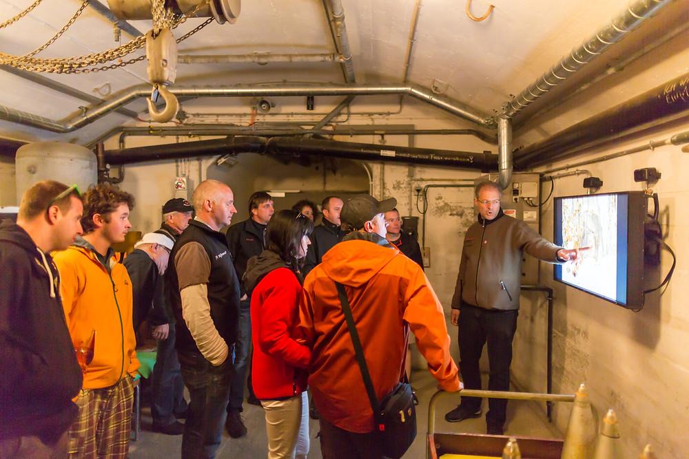 Führung in der ehemals streng geheimen Gotthardfestung Sasso San Gottardo
