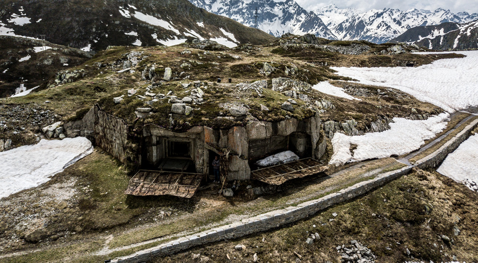 Zur Festung gehören auch Aussenverteidigungsanlagen wie dieser Bunker. Auf unserer Festungswächtertour zeigen wir Ihnen auch diese verborgenen Anlagen!