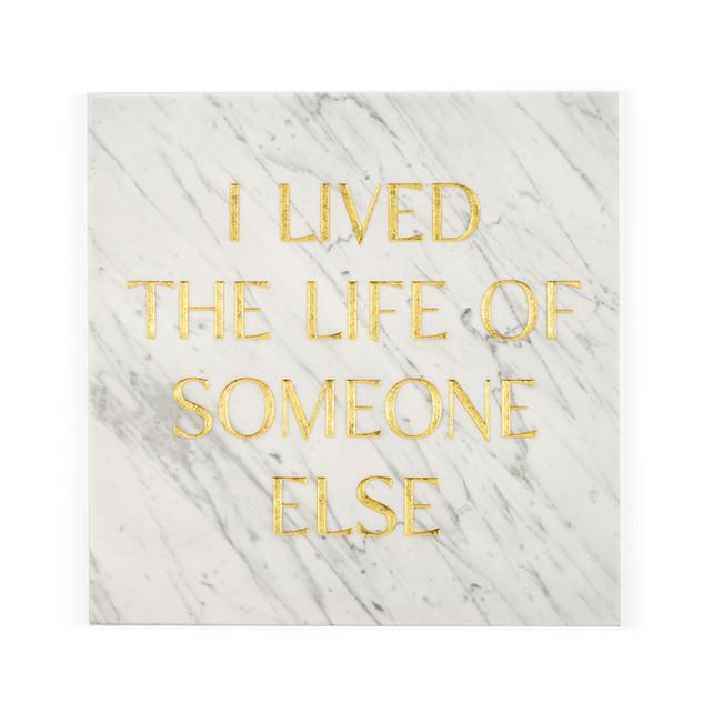 Gravestones gravestones stone marble gold tomb tombstones tombstones tim Bengel headstone i lived the life of someone else