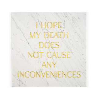 Gravestones gravestones stone marble gold tomb tombstones tombstones tim Bengel headstone i hope my death does not cause any inconveniences