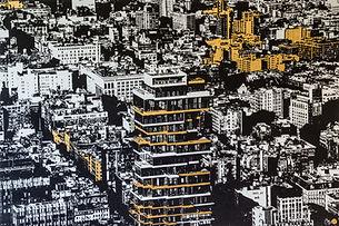 sand gold contemporary art work