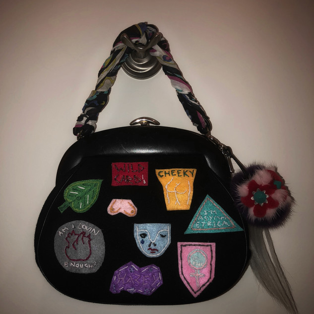 I WEAR MY HEART ON MY BAG