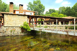 карстовые источники, девня, река, мост