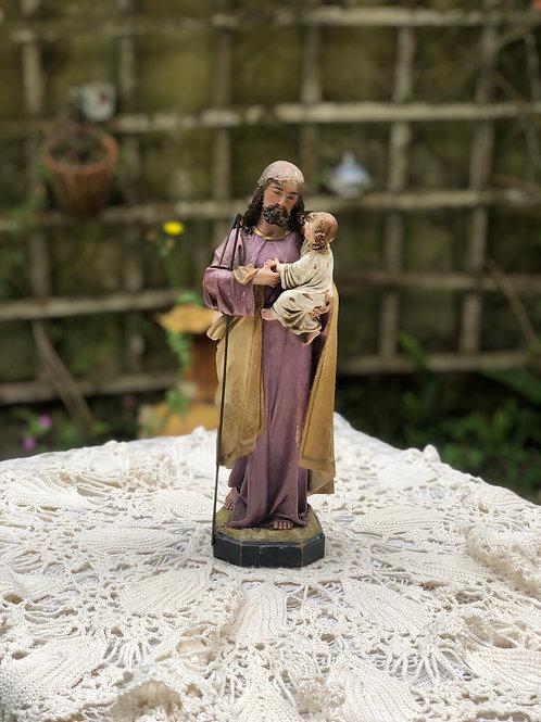 Talla San Jóse con niño, Olot