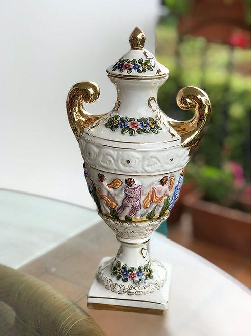 Tibor de porcelana de Alcobaca, Portugal