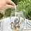 Thumbnail: Juego jarra y 11 vasos Cristal y estaño.