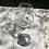 Thumbnail: Jarra de cristal tallado con tapa y pié de plata.