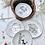 Thumbnail: Cesto con 4  platos de porcelana .