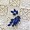 Thumbnail: Broche de cristal azul cobalto .