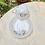 Thumbnail: Vajilla de arcopal con decoración de margaritas .