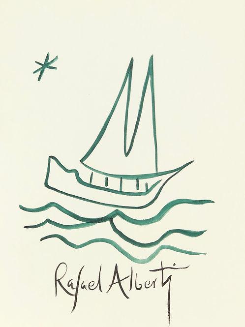 Dibujo Rafael Alberti. Serie Limitada Nº250 de 300