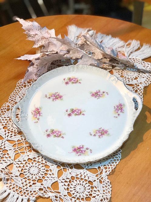 Bandeja pastas decoración floral .