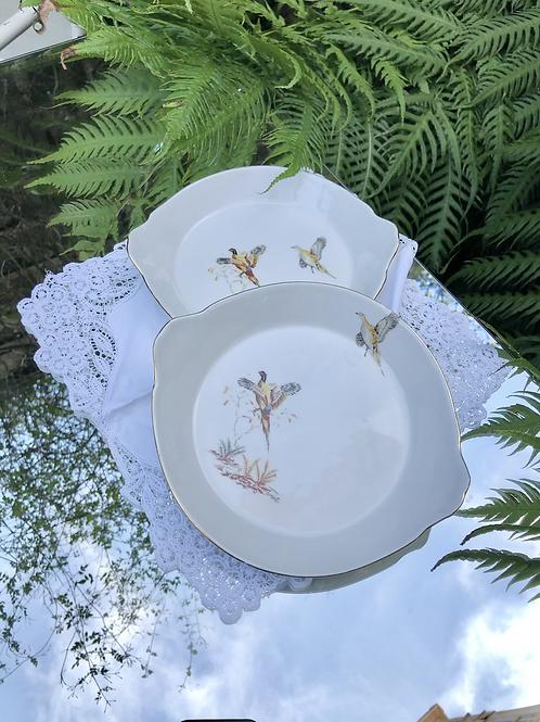 Juego de 2 platos porcelana ISARD