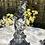 Thumbnail: Pareja de candelabros de peltre.
