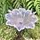 Thumbnail: Antiguo frutero de metal con cristal rosa.