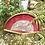 Thumbnail: Abaniquera con abanico de nácar y seda pintada a mano .