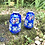 Thumbnail: Pareja de jarrones mini pintados a mano .