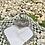 Thumbnail: Salero con forma de cisne en Cristal y alpaca .