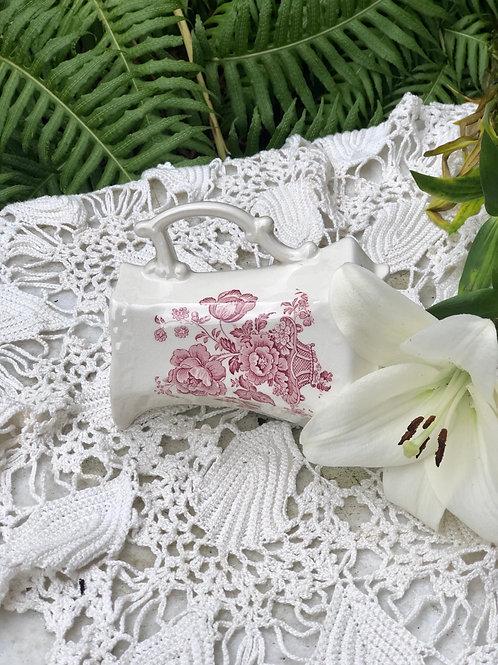 Antigua jarra pequeña de porcelana Crown Devon (England)