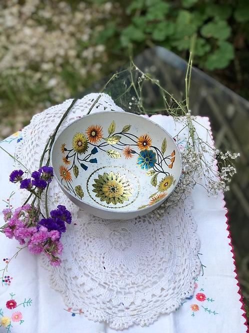 Antiguo bowl metálico de Baret Ware.