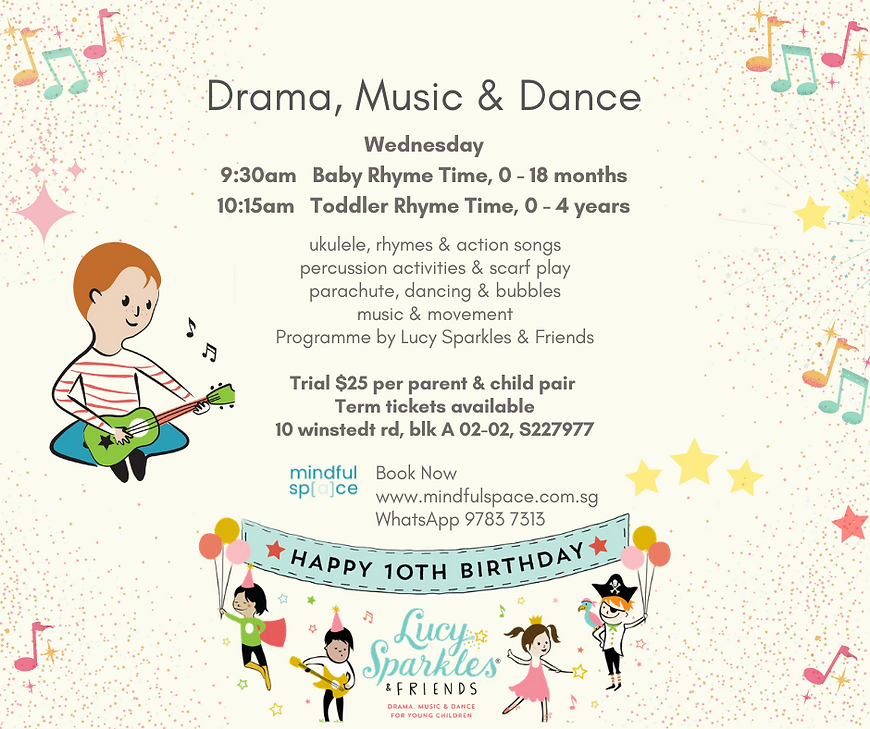Age 0 - 4 Drama, Music and Dance