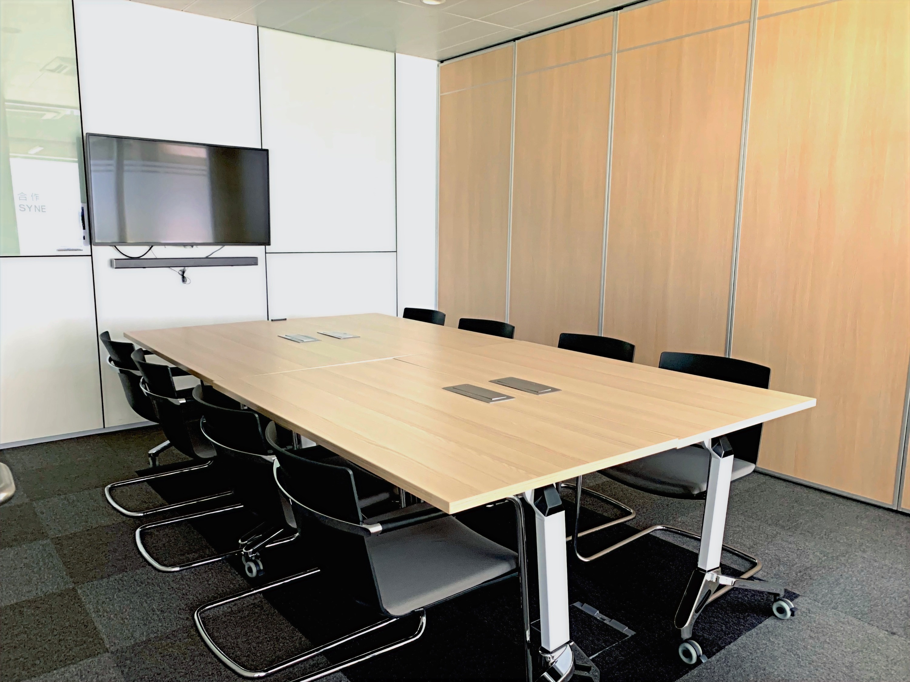 Option for three meeting rooms to be combined