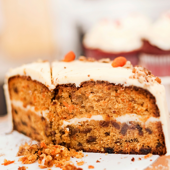 Parent and Child Baking - Vegan & Organic Carrot Cake