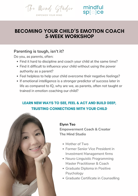 Becoming your child's emotion coach! 5-week workshop