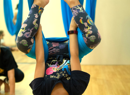 Cultivating Mindfulness: Aerial Yoga and Creative Arts for Kids