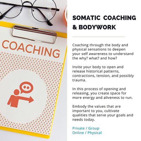 somatic coaching and bodywork