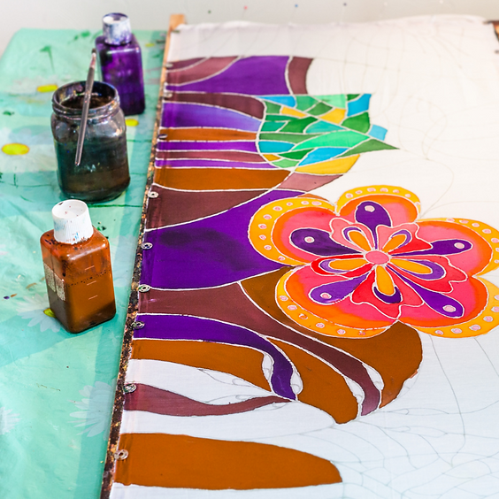 Mother's Day: Parent and Child Batik Painting & Mindfulness & Yoga