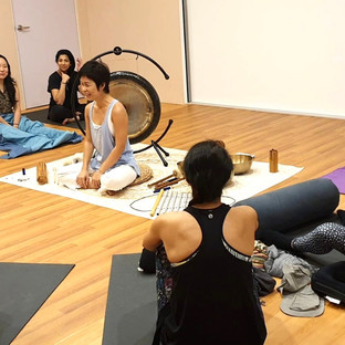 The sound healing at mindful space