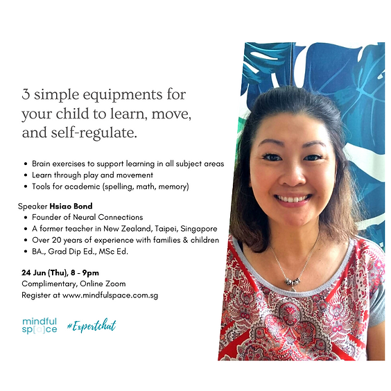#ExpertChat: 3 simple equipments you want at home for your child to learn, move and improve self-regulation