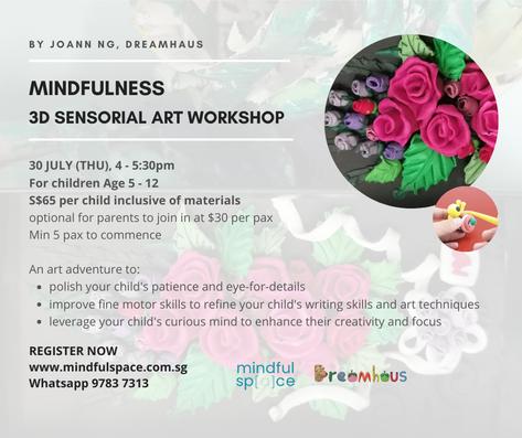 Mindfulness 3D Sensorial Art Workshop
