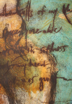 """""""fossil poetry I"""" SOLD"""